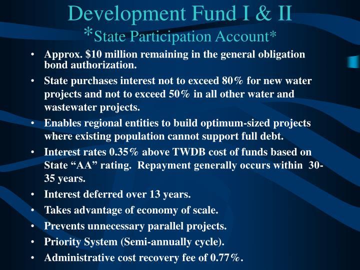 Development Fund I & II