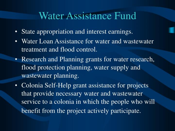 Water Assistance Fund