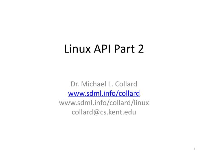 Linux api part 2