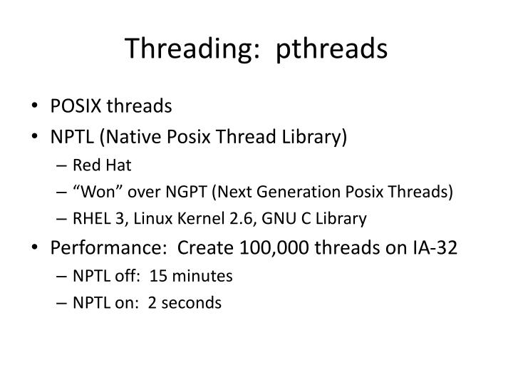 Threading pthreads