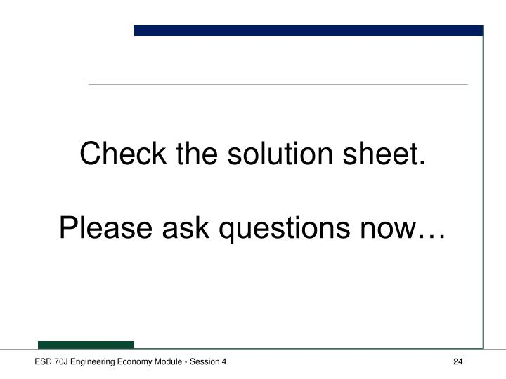 Check the solution sheet.