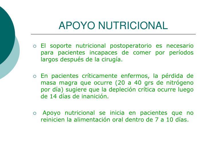 APOYO NUTRICIONAL