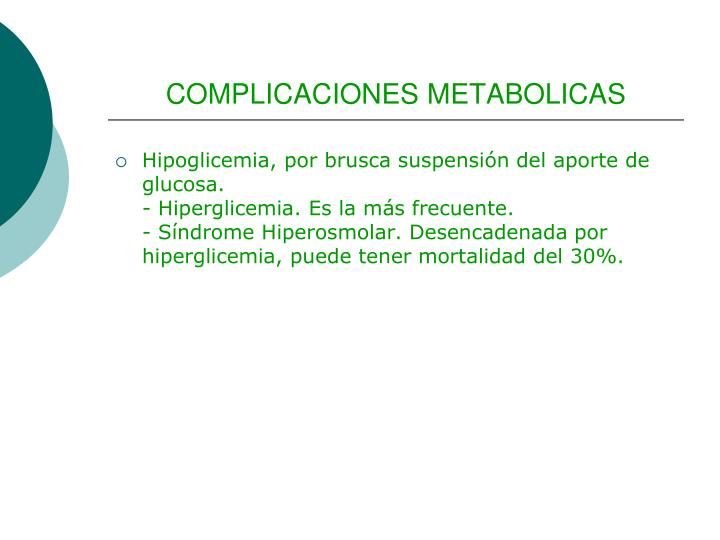 COMPLICACIONES METABOLICAS