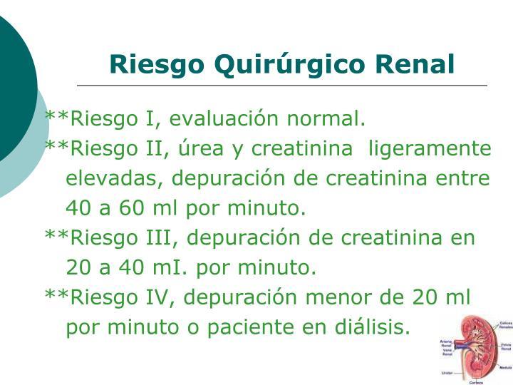 Riesgo Quirúrgico Renal