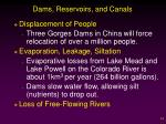 dams reservoirs and canals