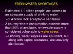 freshwater shortages