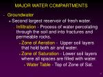 major water compartments