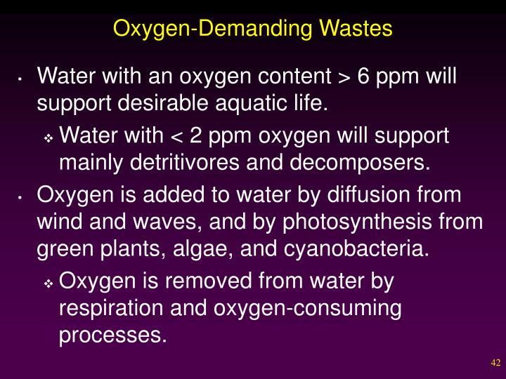 Oxygen-Demanding Wastes