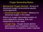 oxygen demanding wastes1