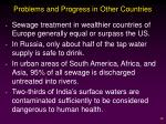 problems and progress in other countries