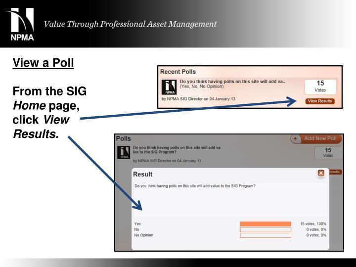 View a Poll