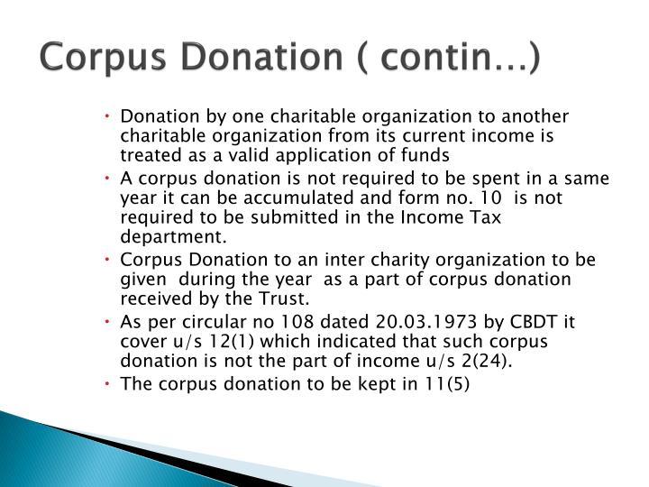 Corpus Donation (
