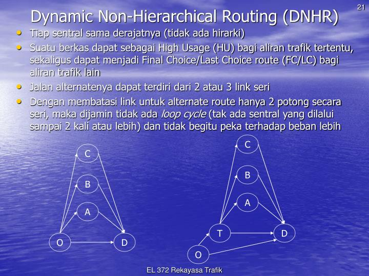 Dynamic Non-Hierarchical Routing (DNHR)