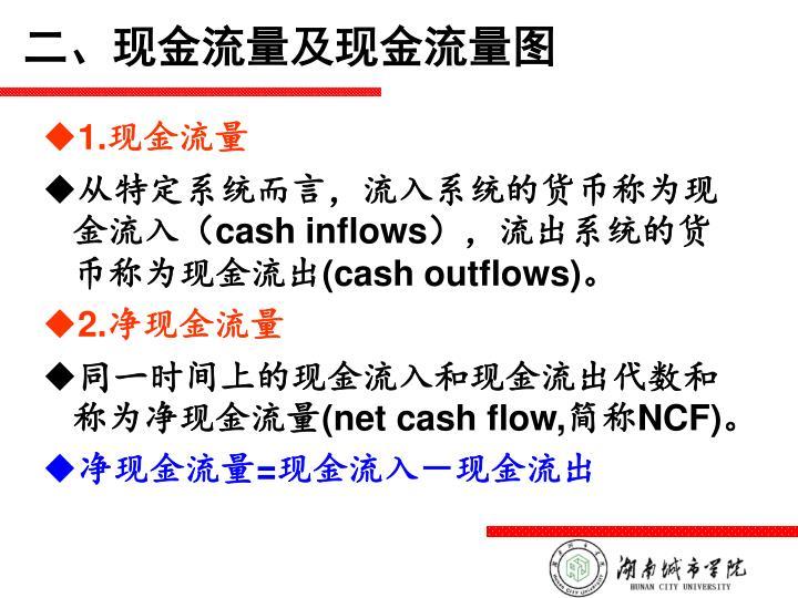 二、现金流量及现金流量图