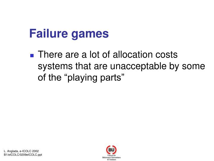 Failure games