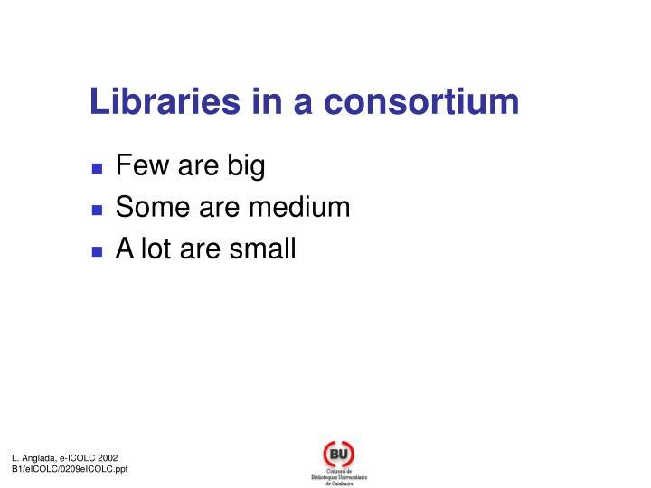 Libraries in a consortium