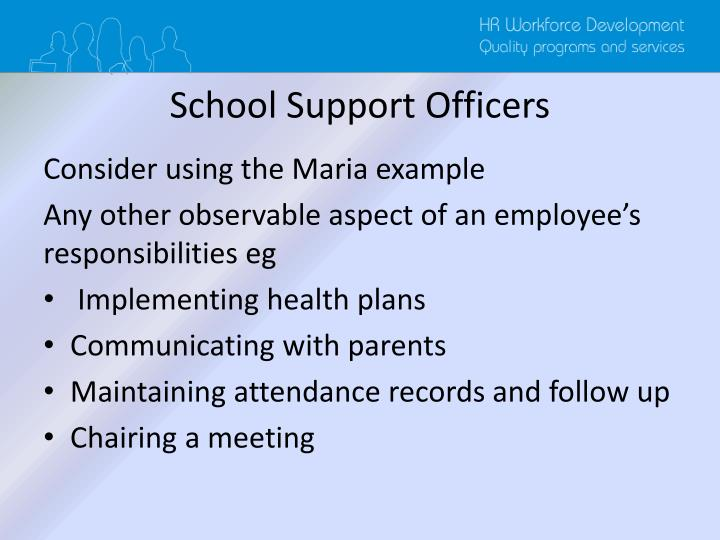 School Support Officers