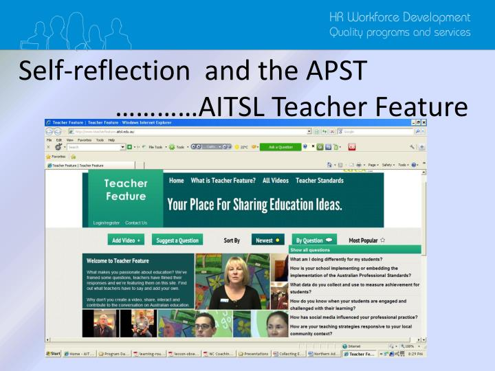 Self-reflection  and the APST