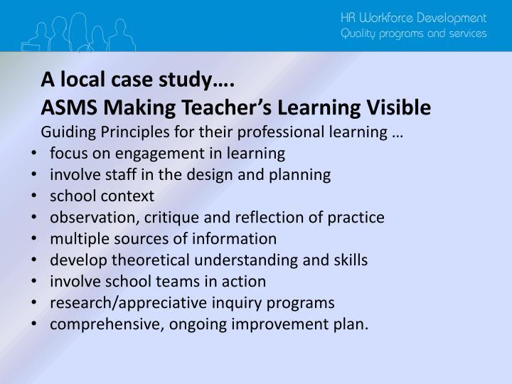 A local case study….