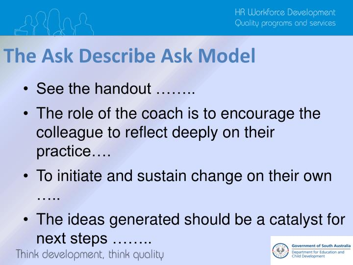 The Ask Describe Ask Model