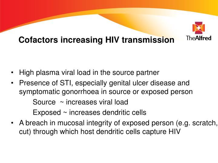 Cofactors increasing HIV transmission