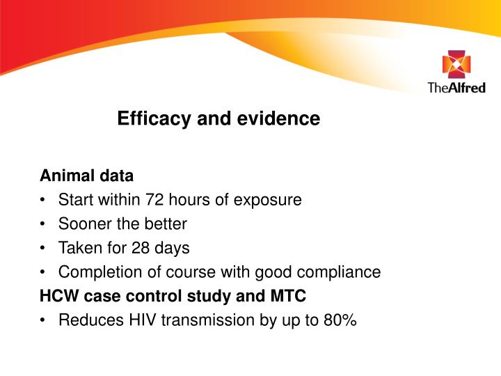 Efficacy and evidence