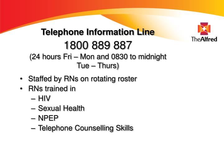 Telephone Information Line