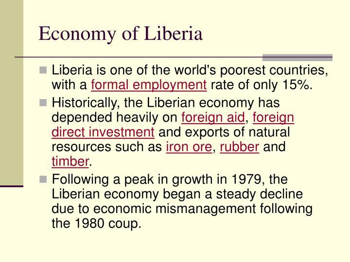 Economy of Liberia
