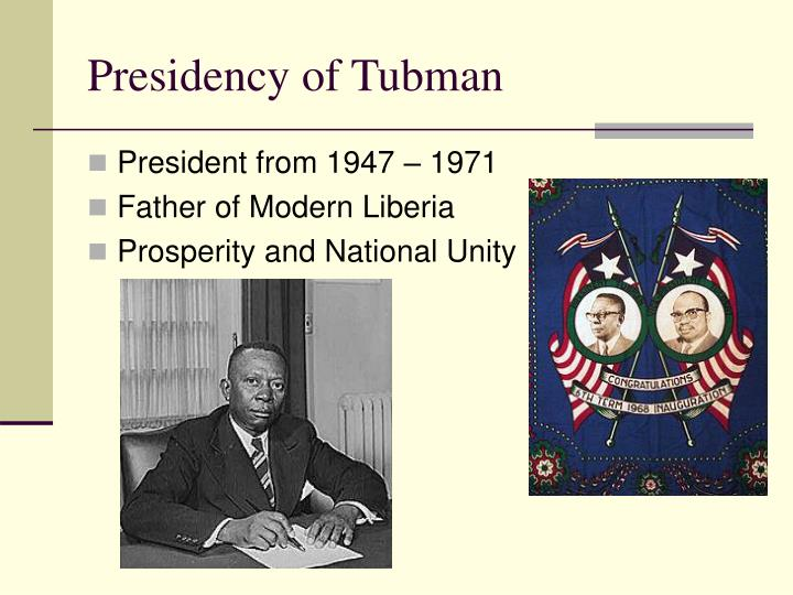 Presidency of Tubman