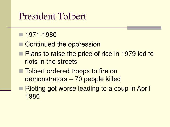 President Tolbert