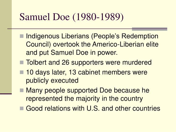 Samuel Doe (1980-1989)
