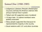samuel doe 1980 1989