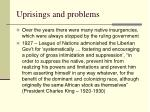uprisings and problems