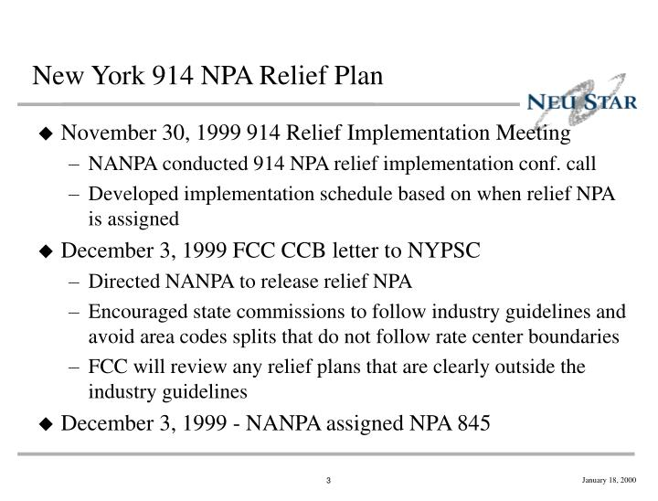 New york 914 npa relief plan1