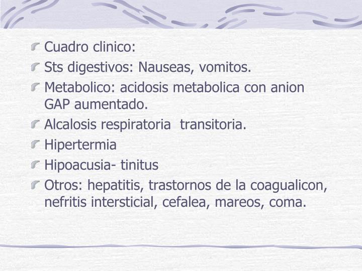 Cuadro clinico: