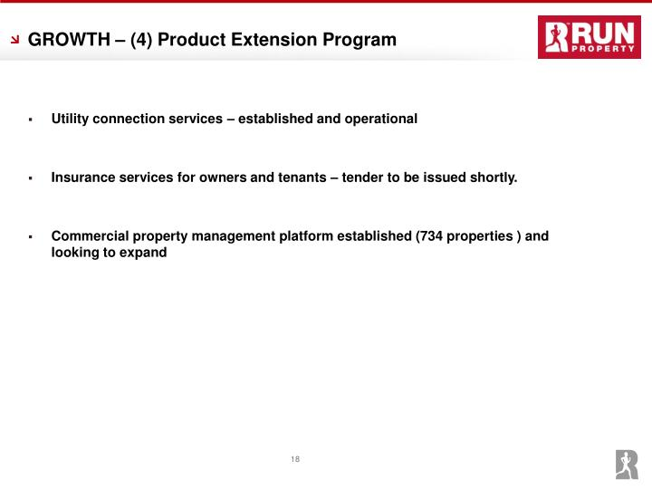 GROWTH – (4) Product Extension Program