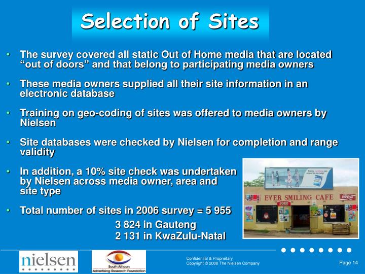 Selection of Sites