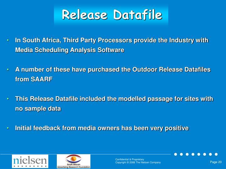 Release Datafile
