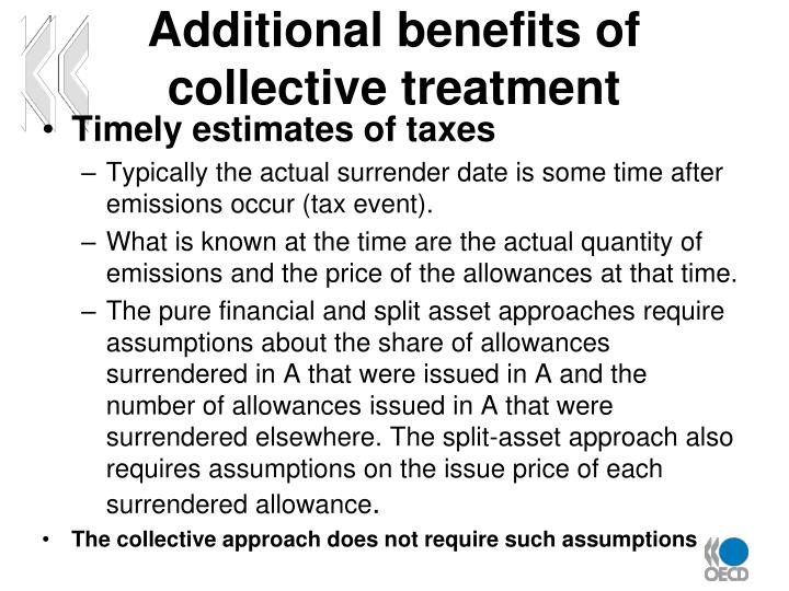 Additional benefits of collective treatment