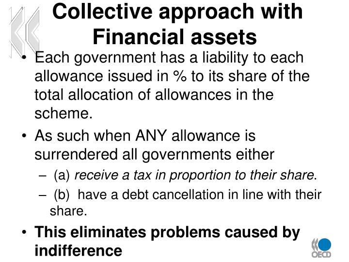 Collective approach with Financial assets