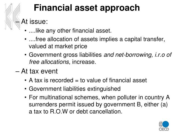 Financial asset approach