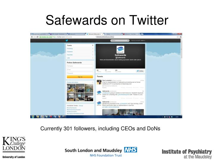 Safewards on Twitter