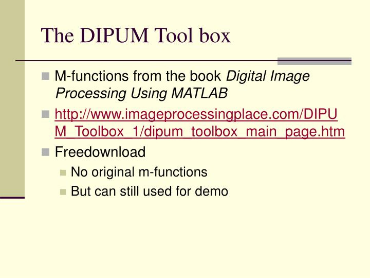 The dipum tool box