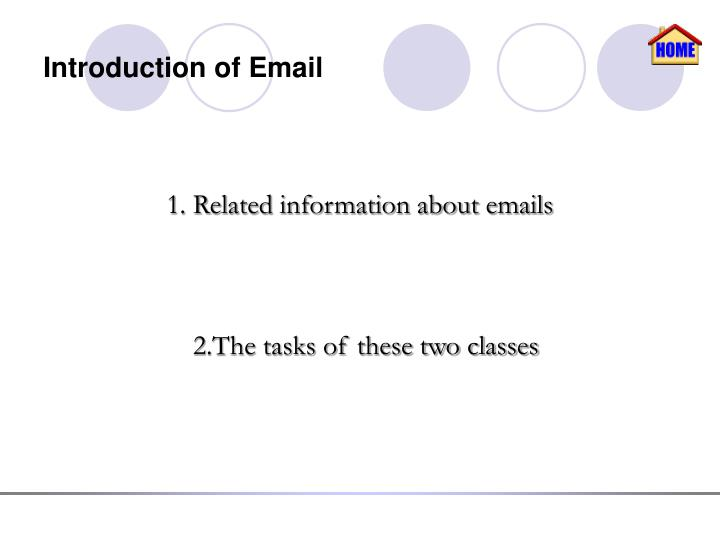 Introduction of email