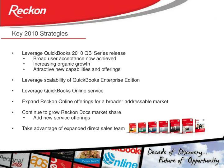Key 2010 Strategies