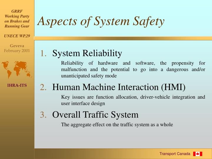 Aspects of System Safety