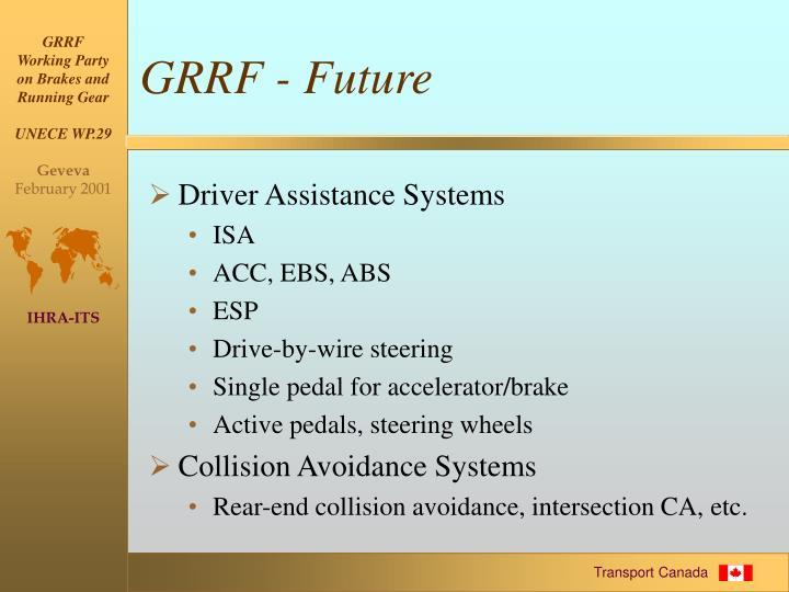 GRRF - Future