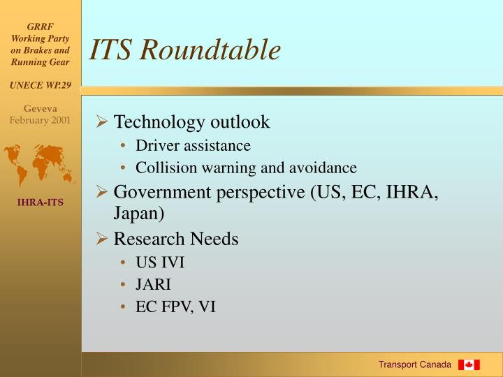 ITS Roundtable