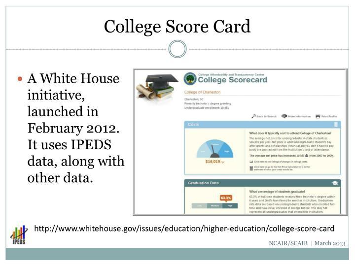 College Score Card