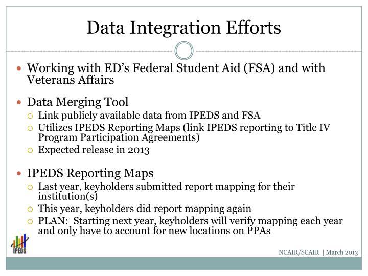 Data Integration Efforts